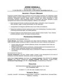 Project Manager Resume Objective Examples Free Architectural Project Manager Resume Example
