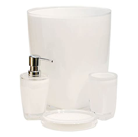white plastic bathroom accessories qg 4 pc modern clear white acrylic plastic bathroom