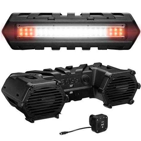 6x9 speakers with led lights boss audio 6x9 quot atv bluetooth sound system with dual led