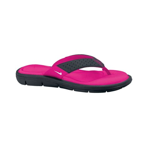 comfortable thong sandals lyst nike comfort thong sandals from finish line in black