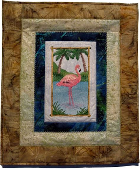 quilts color quilting natural florida ii flamingos