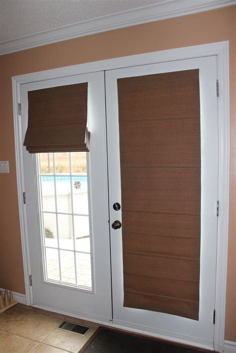 Kitchen Blinds And Shades Ideas by Custom Interiors Roman Shades On Quot French Doors Quot