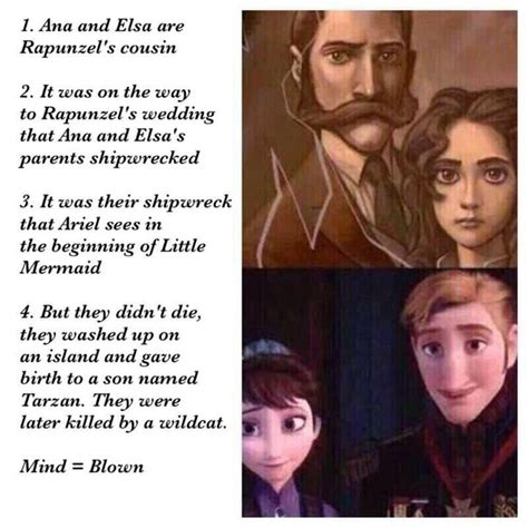film theory elsa and rapunzel tangled frozen little mermaid and tarzan all connected