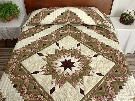 Lone Log Cabin Quilt Pattern by Lone Log Cabin Quilt Terrific Carefully Made Amish