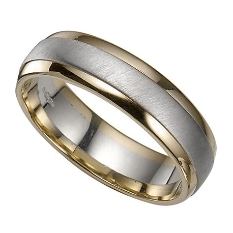 Wedding Rings Groom by Groom S 9ct Two Colour Gold Ring H Samuel