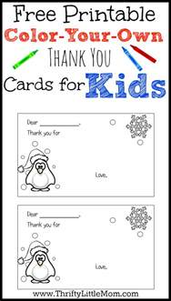 color your color your own printable thank you cards for