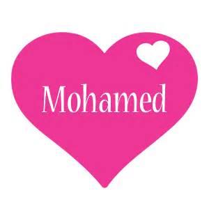 mohamed logo name logo generator i love love heart