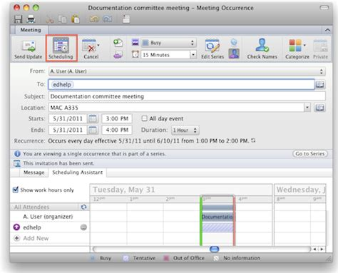 make changes to calendar in outlook change meeting request outlook 2011 for mac