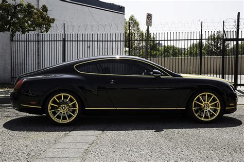 bentley gold fort jealous with a set of gold flangiato s