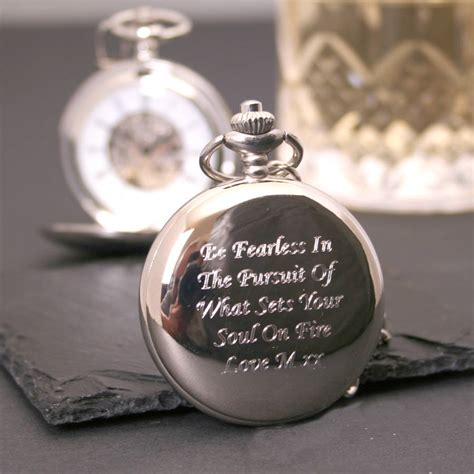 engraved pocket with numerals by giftsonline4u