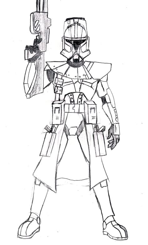 coloring pages commander commander bly lines by spartan 055 on deviantart