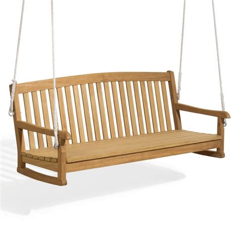 swinging patio bench chadwick wood garden swing bench 5 feet og ch60sw