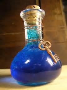 cerulean elixir blue potion glass bottle skeleton