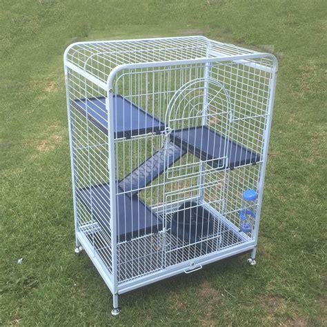 Ferret Feeder 4 level storey ferret metal rabbit guinea pig cage hutch