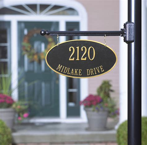 house number sign for l post l post hanging address plaques all you need to know