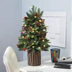 tabletop trees with lights the tabletop prelit tree hammacher schlemmer