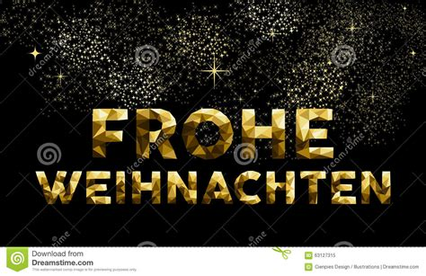 christmas german frohe weihnachten  poly gold stock vector image