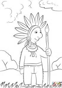 indian chief coloring page cartoon indian chief coloring page free printable