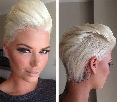 short blonde hairstyles tumblr seksowne blond włosy włosy zaczesane do tyłu fryzury