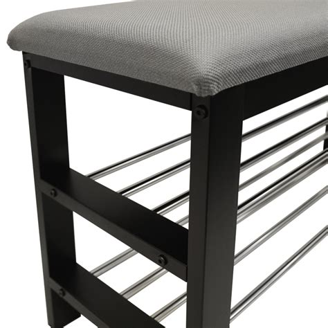 hallway storage bench 2 seat static 2 tier shoe storage hallway bench with padded