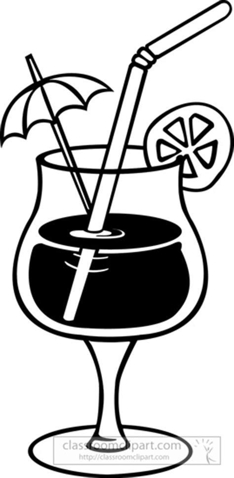 mixed drink clipart black and white drink umbrella clipart clipart suggest