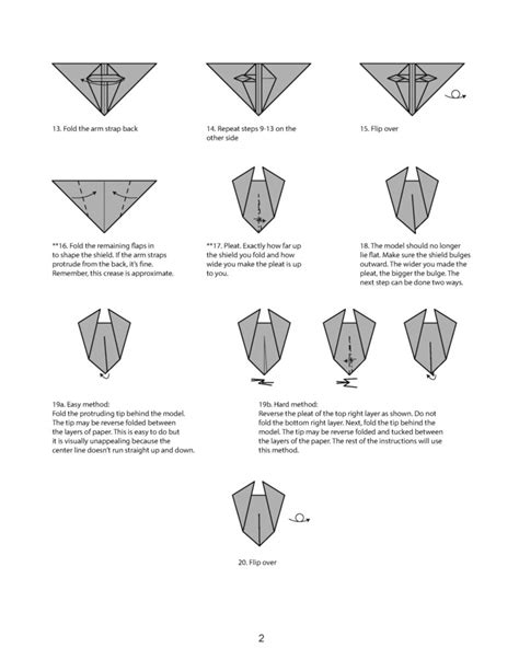 How To Make A Paper Shield Easy - origami cartographer s shield diagram page 2 by houndread