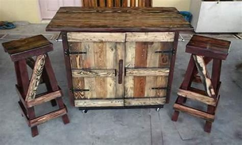 diy kitchen island made from pallet wood house pallet rustic kitchen island pallet ideas recycled