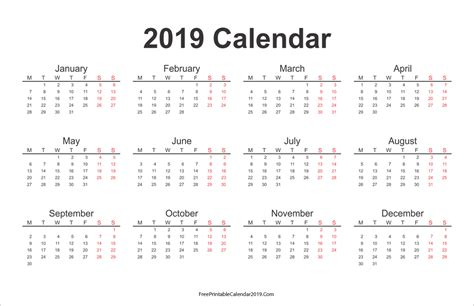new year 2019 calendar free printable calendar 2019 with holidays in word excel pdf