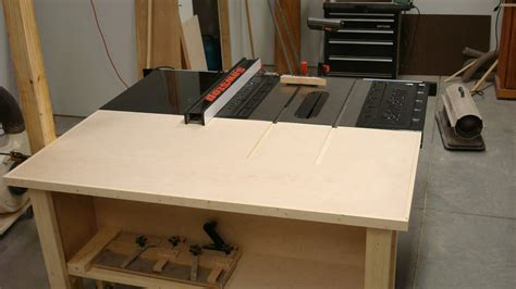 table saw outfeed table by captferd lumberjocks com