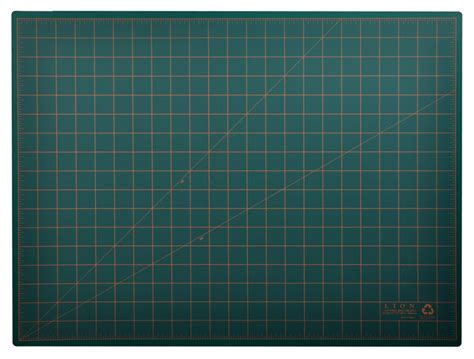 Large Cutting Mat by Post Consumer Recycled Large Cutting Mat 18 X 24 Green