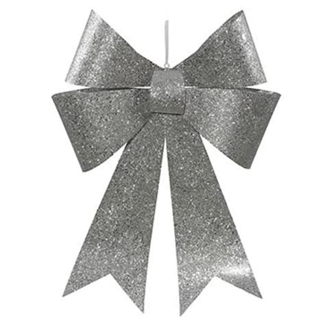 30 inch silver sequin christmas bow m136607 vickerman