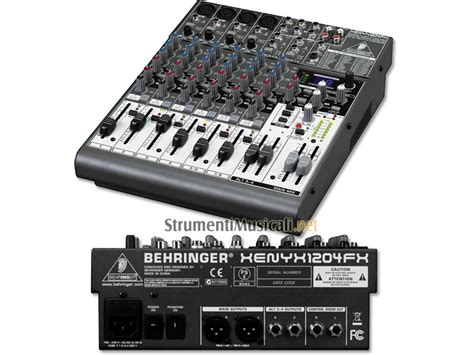 Mixer Behringer 1204fx behringer xenyx 1204fx mixer passivo interfaccia audio