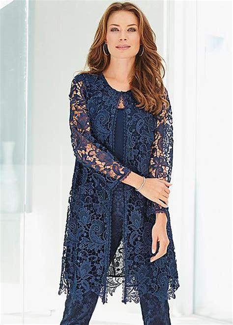Feminine Dress With Jacket Set 2in1 Dress Jacket longline floral lace jacket lace jacket quarter sleeve