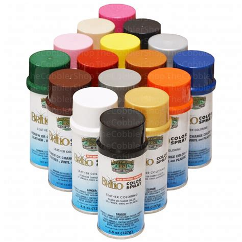 meltonian nu brillo color spray leather vinyl paint dye 4 5 oz all colors ebay