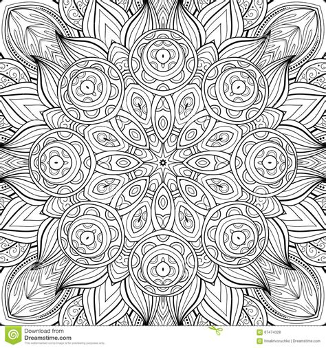 tribal pattern drawn seamless abstract tribal pattern vector stock vector
