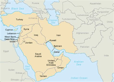 middle east map with country names sctr19 worksheets