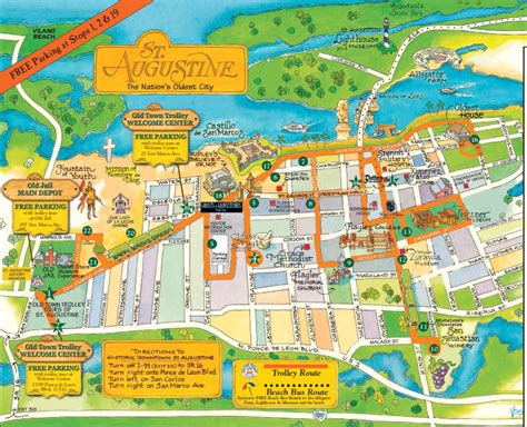 st augustine map town trolley st augustine tour frugal florida