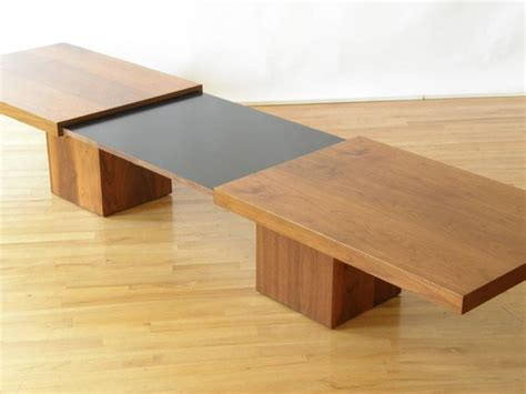 expanding coffee table john keal expandable coffee table for sale at 1stdibs