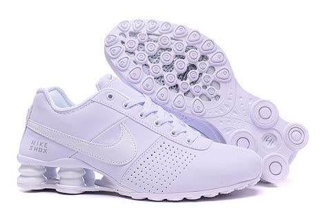 all white nike mens shoes all white nike shox deliver