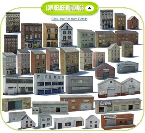 How To Make Paper Models Of Buildings - railroad model buildings 60 cheap paper model buildings
