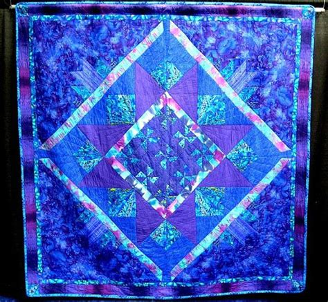 Blue And Purple Quilt by Large Quilt In Bpt Blue Purple Teal Turquoise