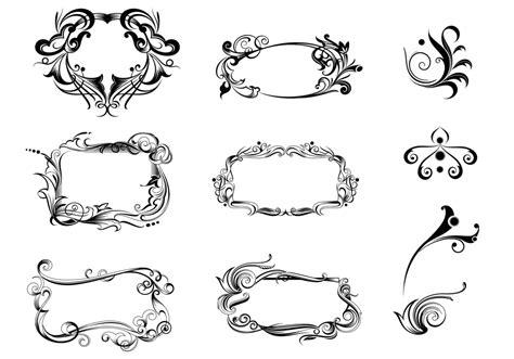 decorative ornament vector pack   vectors