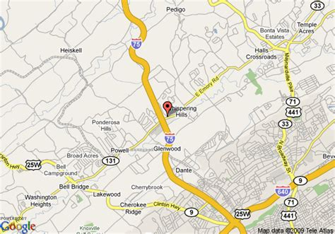 map of i 75 in with exits inn express hotel suites knoxville i 75