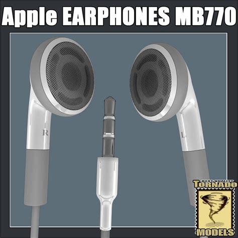 Earphone Model Apple Apple Earphones Mb770 3d Lwo