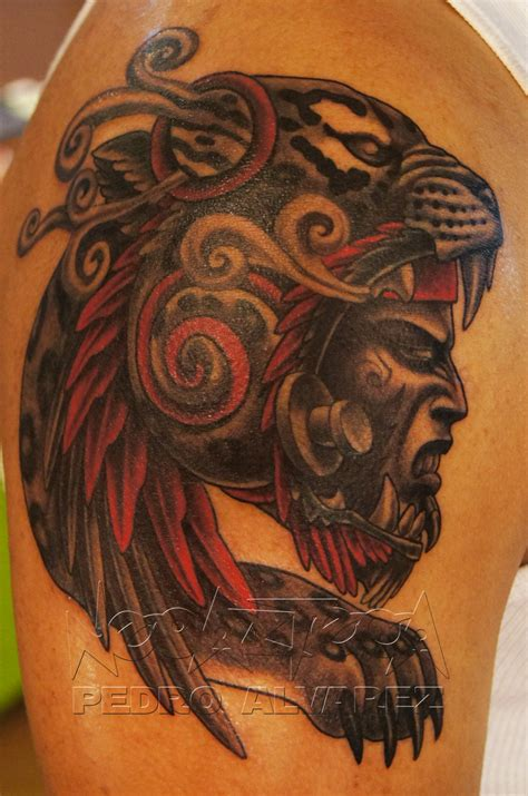 pin guerrero azteca jaguar tattoo on pinterest