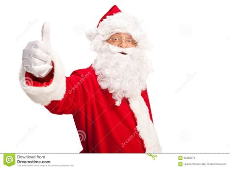 santa claus thumbs up santa claus giving a thumb up stock photo image 62388213