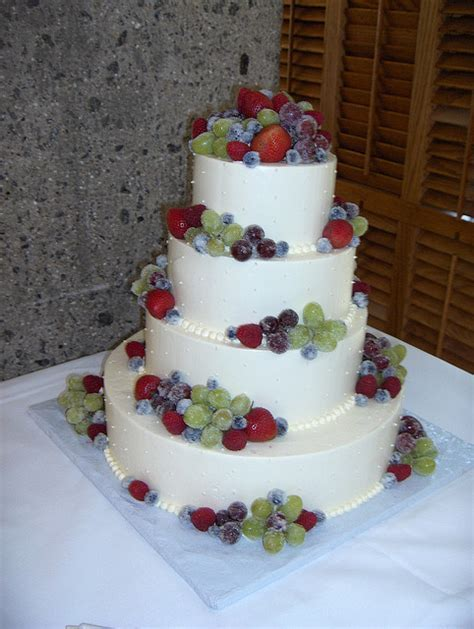Frosted Fruit Wedding Cake   A Wedding Cake Blog