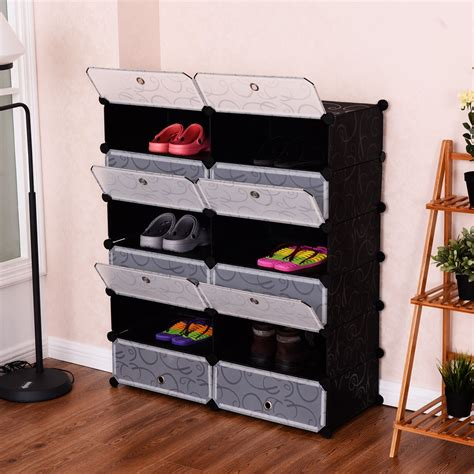 rack shoe room living room 12 cubes shoes pp rack shelf storage cabinet closet container ebay