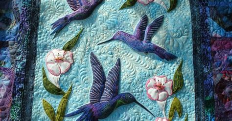 Hummingbird Quilts by The Nifty Stitcher Hummingbirds Finished
