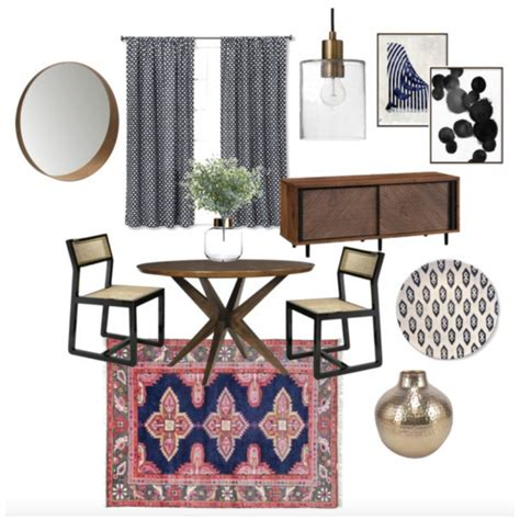 eclectic bohemian dining room   chic diner